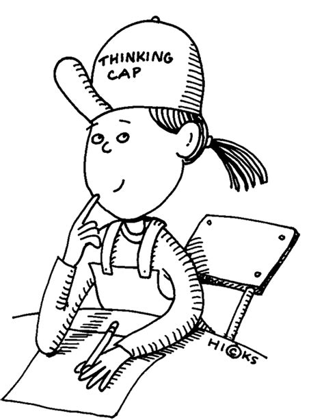 Thinking Outline by Person Thinking Clipart Black And White Downloadclipart Org