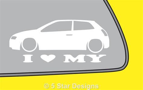 Stiker Stilo 2 2x low fiat stilo jtd 2 4 abarth outline sticker