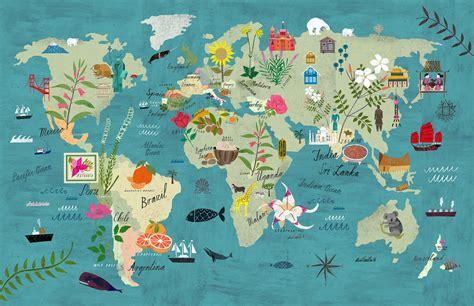 world map illustration 2 world map martin haake illustrations