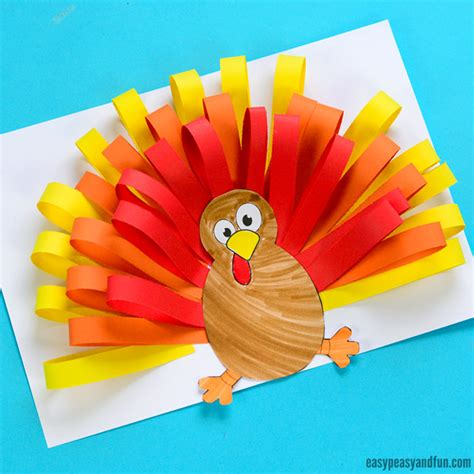 A Paper Turkey - paper turkey craft easy peasy and