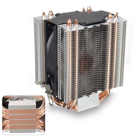 most quiet cpu fan 4 heatpipe radiator quiet 3pin cpu cooler heatsink for