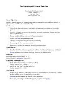 Best Resume For Qa Analyst by Quality Analyst Resume Getessay Biz