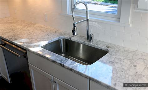 white countertop with subway tile backsplash white - Backsplash With White Countertops