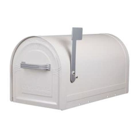 gibraltar mailboxes wyngate locking post mount mailbox in