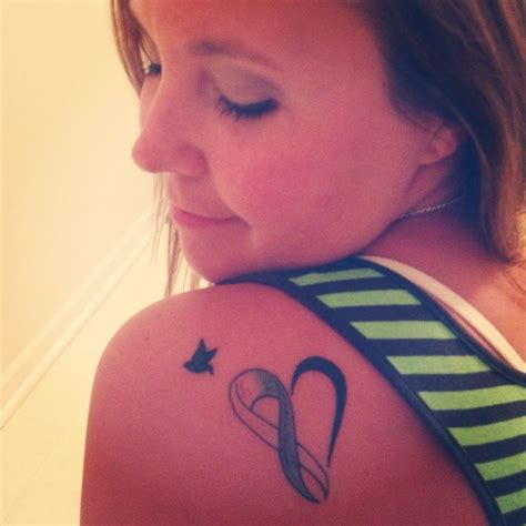 miscarriage ribbon tattoo pregancyloss miscarriage angelbaby memorial awareness