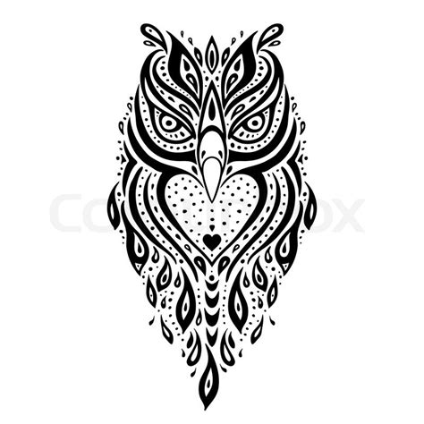 tattoo owl vector decorative owl tribal pattern ethnic tattoo vector