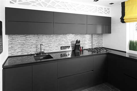 Good Charcoal Gray Kitchen Cabinets #8: Cocinas-negras-41.jpg