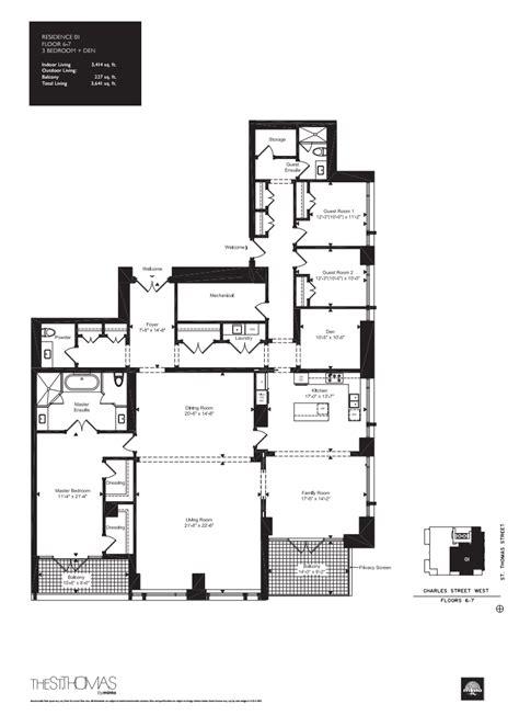 st thomas suites floor plan st thomas suites floor plan onestthomas floorplan 08 one
