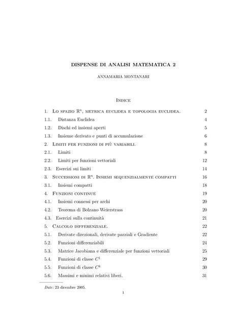 analisi matematica 1 dispense calam 233 o autrice annamaria montanari dispense di