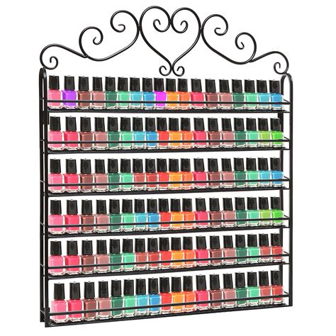96 bottle nail polish wall rack display amazon beauty nail polish rack hanging wall mount display organizer