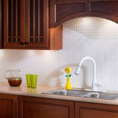 decorative kitchen backsplash fasade 24 in x 18 in terrain pvc decorative tile