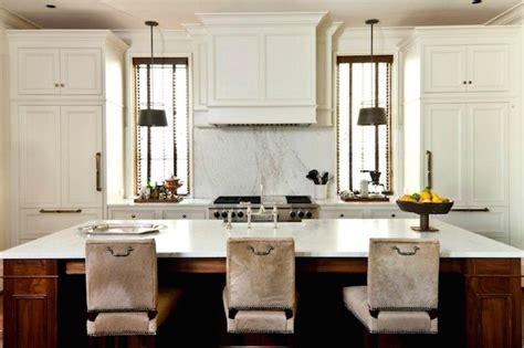 Two Fridges In Kitchen - stove between windows design ideas