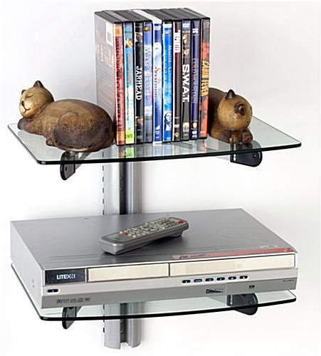 Tv Accessory Wall Mount Shelf by The Monitor Stands Are Glass Shelves That Hold Various