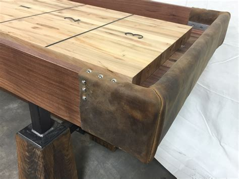 rustic shuffleboard table the industrial farmhouse