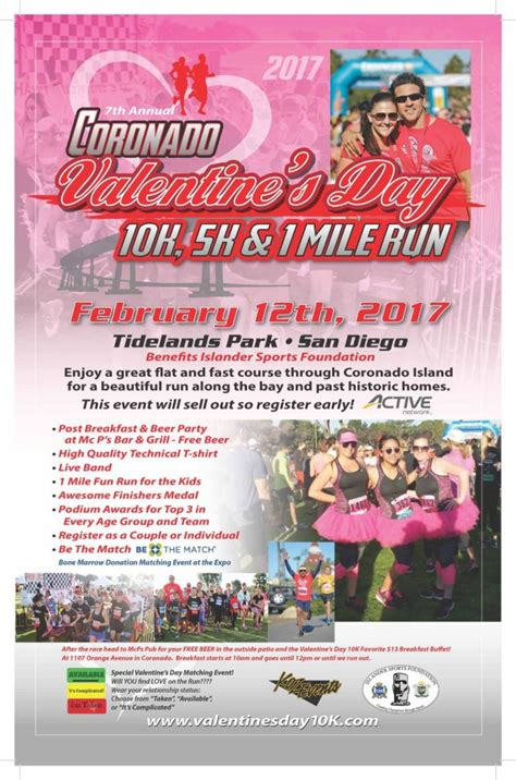 valentines 10k coronado s day 10k 5k 1 mile run