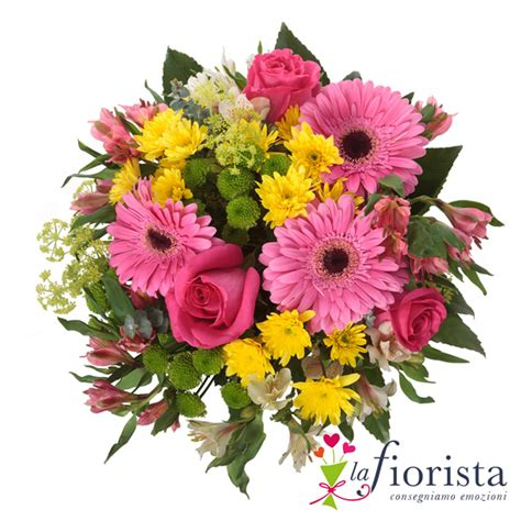bouchet di fiori vendita bouquet rosa e giallo consegna fiori a domicilio