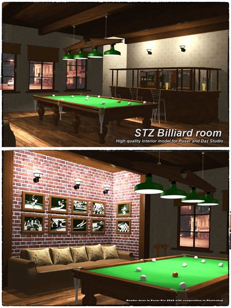 carom room stz billiard room renderosity room