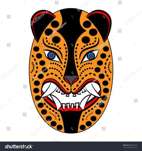 mexican jaguar mask mexican mask jaguar on white stock vector 280304510