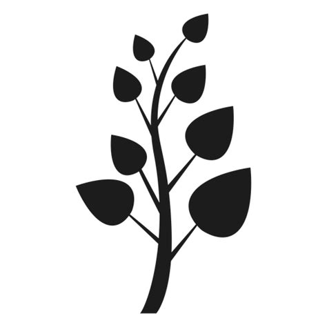 trunk  pointed leaves icon transparent png svg vector