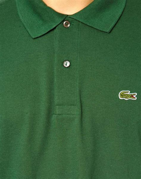 Polo Crocodile Polos lyst lacoste polo shirt with crocodile in green for