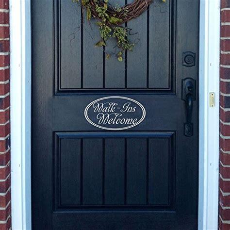 Front Door Window Decals Walk Ins Welcome Front Door Decor Window Decal Home Welcome Door Decal Office Shop Sign Decal