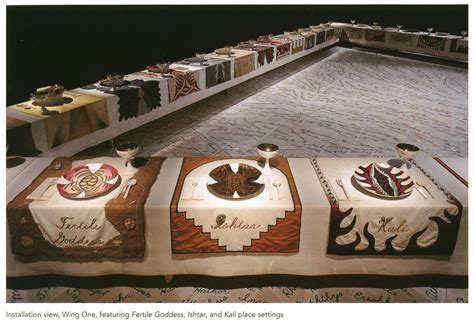 judy chicago dinner and history abstract in the era of global