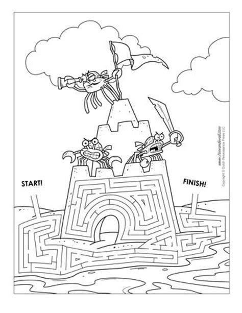 printable shark maze sand castle maze illustrated by tim van de vall mazes