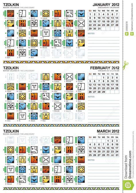 Calendario Descripcion Sellos Tzolkin Calendar Vector Illustration Cartoondealer