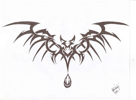 tribal bat tattoo 10 tribal designs