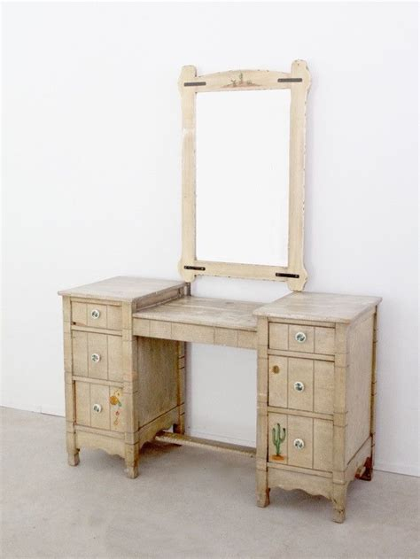 Vanity Ranch by Vintage California Ranch Vanity Dresser And Mirror By L