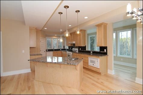 long kitchen ideas long kitchen with island angled towards the family room