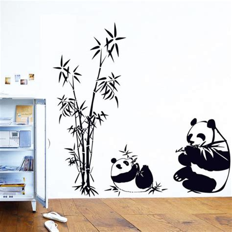 panda wall stickers popular panda wall decal buy cheap panda wall decal lots