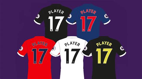 Jersey Persib Away Liga 1 2017 Name Set all new 2017 18 premier league kit numbers font revealed