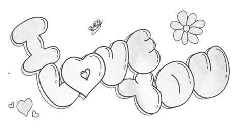 draw  love    bubble letters    draw