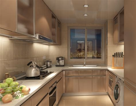 kitchen interior design rendering with fruit decoration