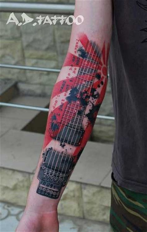tattoo guitar neck 20 kick ass guitar tattoos