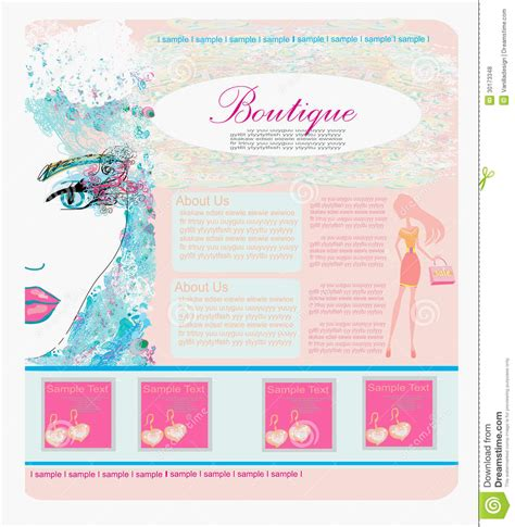 shopping site template fashion shopping website template royalty free stock