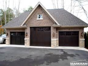 brick garage designs three dark brown coloring doors with design comfy homehouz home