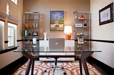 give  office  clear  chic    glass top desk