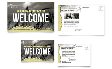 post card template publisher bible church postcard template word publisher