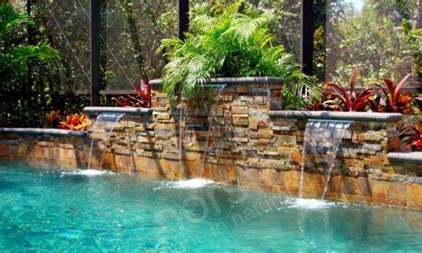 Landscape Rock Kissimmee Fl Pool Stacked Veneer Pools