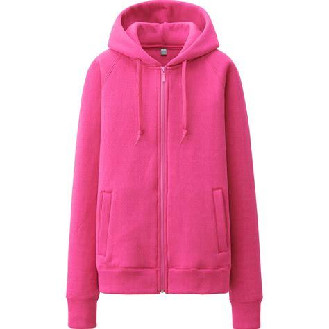 Uniqlo Sweatshirt Vintage Sweater 1 uniqlo fleece sleeve zip hooded jacket in pink lyst