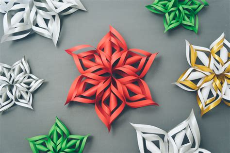 How To Make A 3d Snowflake With Paper - diy 3d paper snowflakes