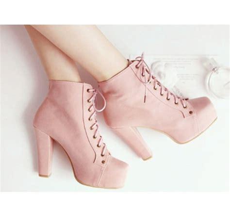 shoes cheap kawaii pumps high heels pink pastel
