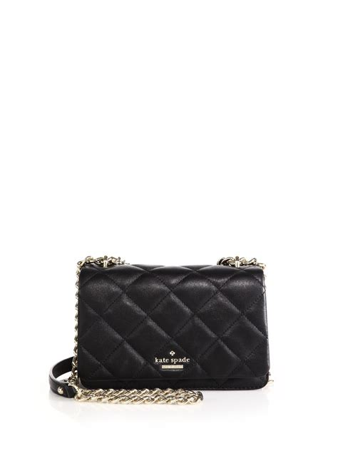 Kate Spade Black Quilted Purse by Kate Spade New York Emerson Place Vivenna Quilted Leather