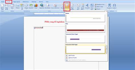 cara membuat halaman di word beda cara membuat nomor halaman berbeda beda di word 2007