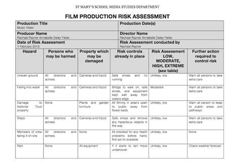 manufacturing risk assessment template assignment 3 task 1 tyrrell tv