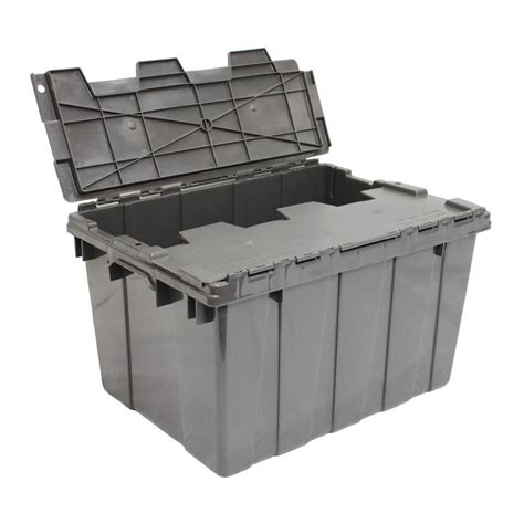 home design products 12 gallon flip top tote hdx 12 gal flip top tote colors vary by store 211512 the home depot
