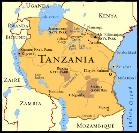 map of tanzania four seasons hotels set up c in the serengeti