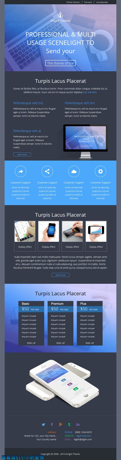responsive email template builder digit theme responsive email template builder by